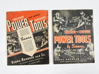 1936   1937 SEARS POWER TOOlS CATAlOGUES
