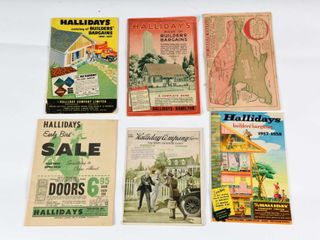 lOT OF 6 HAllIDAY COMPANY FACTORY DIST  CATAlOGUES