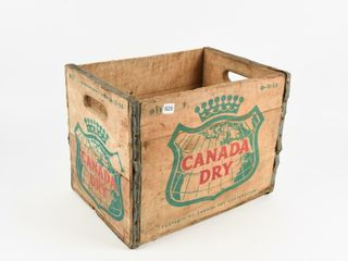 1963 CANADA DRY WOODEN BOTTlE CRATE