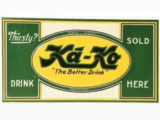 KA KO  THE BETTER DRINK  SOlD HERE SST SIGN
