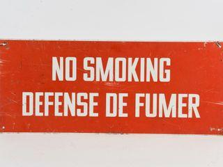 NO SMOKING DEFENSE DE FUMER S S AlUM  SIGN