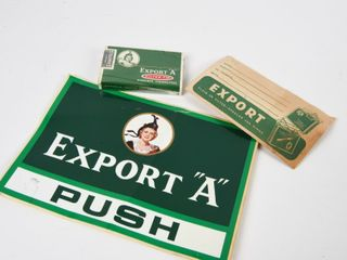 lOT OF 3 EXPORT  A  CIGARETTE COllECTIBlES
