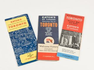 GROUPING OF 3 TORONTO EATON S VISITOR MAP   GUIDES