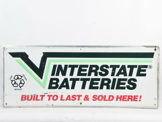 INTERSTATE BATTERIES SOlD HERE S S AlUM  SIGN