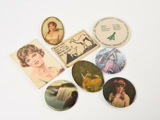 GROUPING OF 8 VINTAGE POCKET MIRRORS