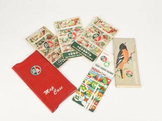 lOT OF 5 B A  GREEN RED  CITY ROAD MAPS   COVER