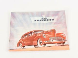 WIllYS 1941 AMERICAR 4 PAGE ADVERTISING BROCHURE