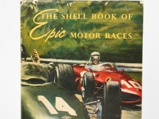 1964 SHEll BOOK OF EPIC MOTOR RACES   DUST COVER