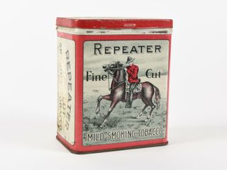 REPEATER FINE CUT SMOKING TOBACCO UPRIGHT TIN