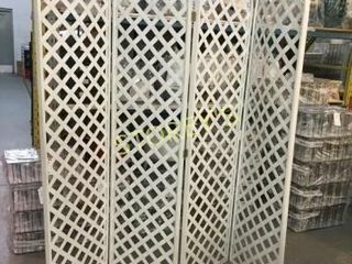 4 Panel lattice Room Divider    20 x 82