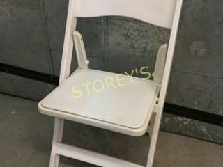 SCF White Resin Folding Chair