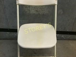 Samsonite Ivory Folding Plastic Chair