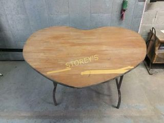 Heart Shaped Dining Table   53 x 42 x 29