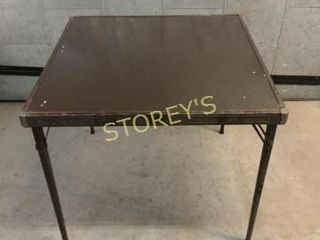 Folding Card Table   30 x 30 x 27
