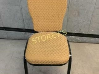 8 Gold Padded Stacking Banquet Chairs