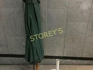 Green Fabric Umbrella w  Base