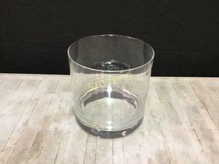 Heavy Round Glass Vase   8 x 8