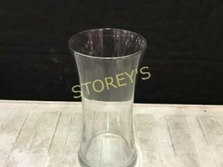 4 Round Glass Vases   4 x 8