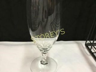 48 Crystal Beer Goblets w  2 Racks   long Stem