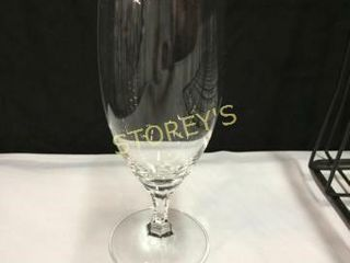 40 Crystal Beer Goblets w  2 Racks   long Stem