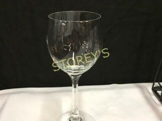 48 Crystal 7oz Wine Glass w  2 Racks