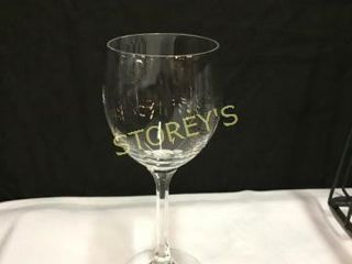 24 Crystal 7oz Wine Glass w  1 Rack