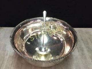 Silver Punch Bowl   14 x 8