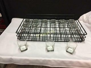 72 Old Fashion Sq  Glasses w  3 Racks