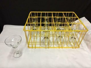 24 Margarita Glasses w  2 Racks   12oz