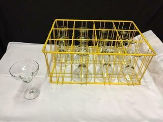 22 Margarita Glasses w  1 Rack   12oz