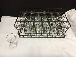 48 Wine Glasses w  2 Racks   6oz