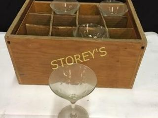4 Martini Glasses w  Box   5oz
