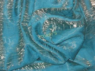 12 Crush Turquoise Gold 81 x 81 Tablecloths