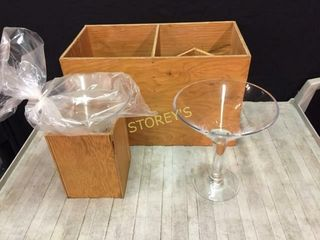3 Martini Center Pieces w  Box