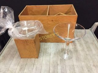 2 Martini Center Pieces w  Box