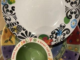 Vintage clear bowl   more colorful bowls