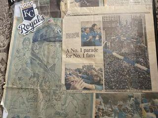 Royals 1985 original 1985 kc star newspaper