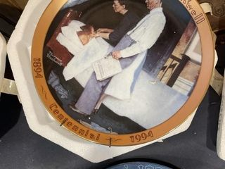 Norman Rockwell collectible plates Christmas