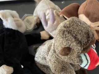 Beanie babies monkey donkey owl
