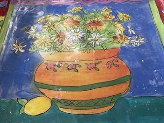 Clay t shirt platter Clay flower pot platter