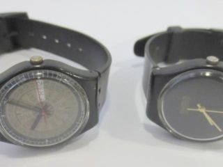 PAIR OF VINTAGE SWATCH WATCHES   NEED BATTERIES