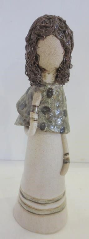 ClAY FIGURINE OF WOMAN   10 H