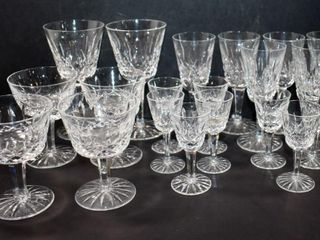 WATERFORD CRYSTAl  lISMORE PATTERN  20 PCS STAMPED