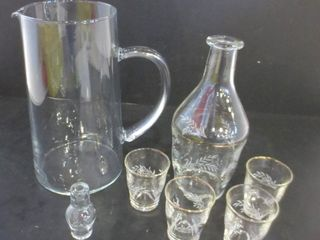 GlASS PITCHER AND SAKE SET
