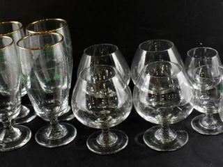 4 IRISH COFFEE GlASSES   5 BAllOON lIQUEUR GlASSES
