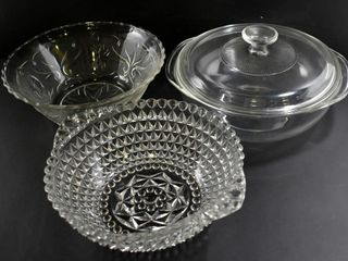 GlASS CASSEROlE W lID  SQUARE ENGlISH HOBNAIl10 D
