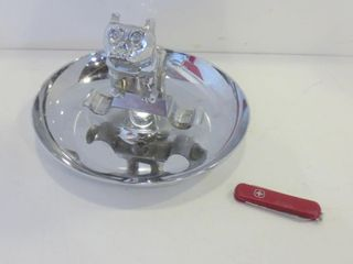 VINTAGE CHROME MACK TRUCK CIGAR ASHTRAY AND