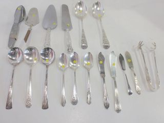 PAIR OF AI l CO lARGE SIlVER PlATE SERVING SPOONS