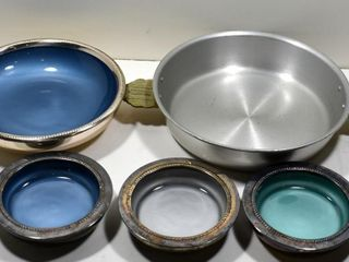 W S  BlACKINTON ENAMEllED DISHES 6 D   4 D