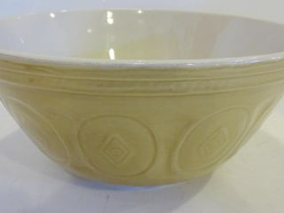 YEllOW WARE 12  MIXING BOWl   MADE IN CHINA